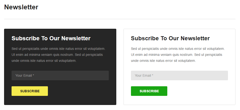 Create a Newsletter form | Video Pro - Documentation