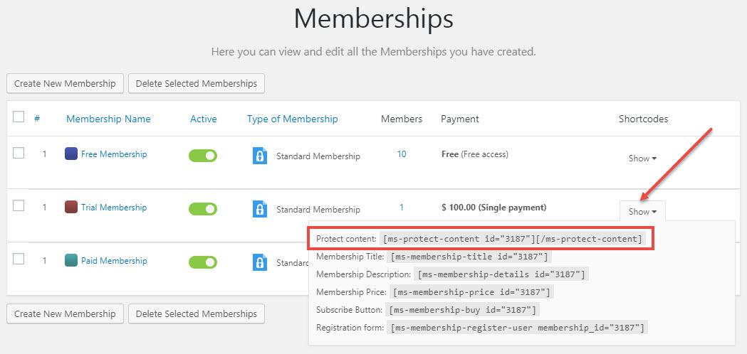 VideoPro-Membership-Shortcodes