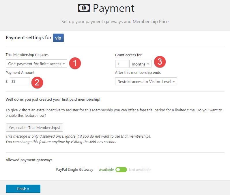 membership-paymentsettins